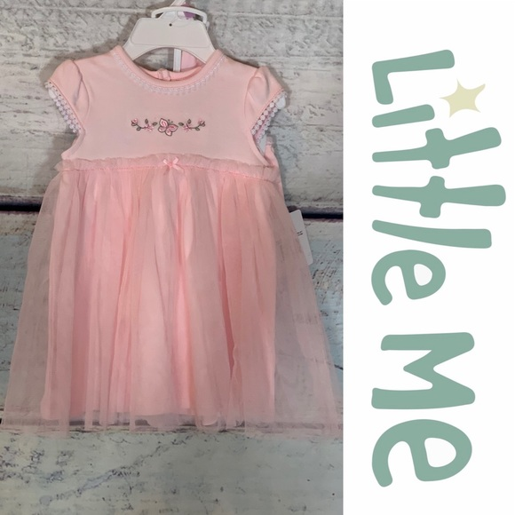 Little Me Other - Dainty Dress, Diaper Cover and Headband